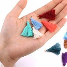 50-200 pz colore Mini nappa ciondolo frangia partito fai da te appeso anello corde nappa Trim indumenti tende gioielli Decor nappe pizzo