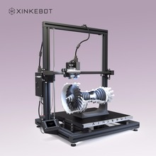 Large 3D Printer Dual Extruder 3D Printer Buildtak Type Surface Xinkebot Orca2 Cygnus 400x400x500mm 0.05 Resolution