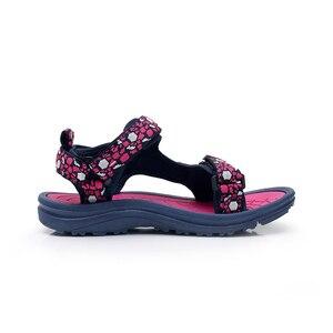 Image 4 - Apakowa Girls 여름 오픈 토우 후크 앤 루프 비치 워킹 스포츠 샌들 아동 워셔블 퀵 드라이 슬링 백 워터 샌들 신발