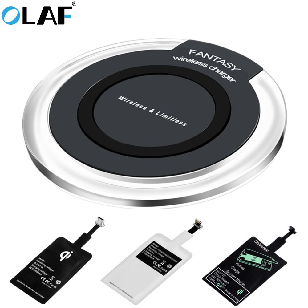 OLAF Wireless-Charger Usb-Charging-Pad Xiaomi Phone Note 9 Samsung S9 8-Plus For XS Max-X-Xr