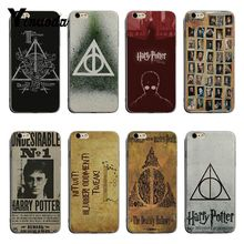 Yinuoda Harry Potter Deathly Hallows Always Unique Luxury transparent soft phone case For iPhone 7 8plus 6 6splus X XS XR XSMax чехол для iphone 6 глянцевый printio deathly hallows