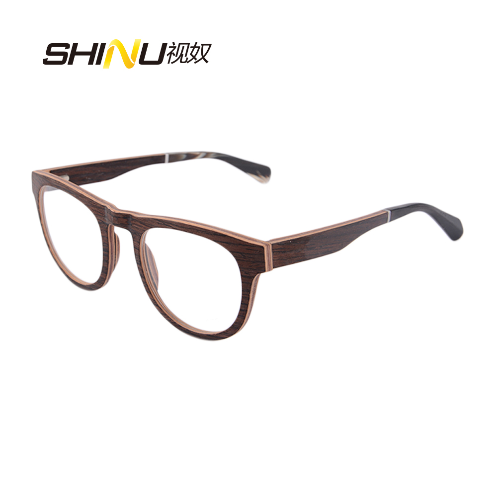 Hot Sale Round Optical Glasses Frame Luxury Walnut Wood Optical ...