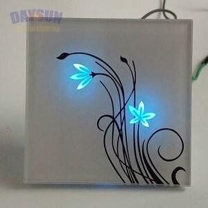 Image 4 - Новый сенсорный светильник, 2 сторонний сенсорный выключатель, умный сенсорный светильник, Домашний Светильник, роскошная белая/черная Хрустальная стеклянная панель
