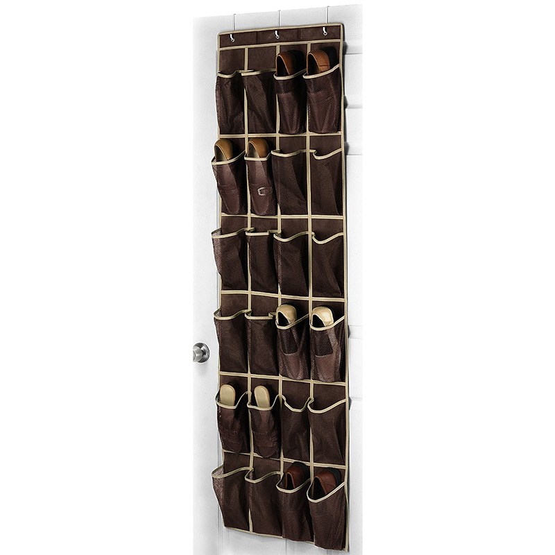 24 Pocket Shoe Hanger Home Over The Door Hanging Organizer Storage Holder Rack Closet Shoes good quality