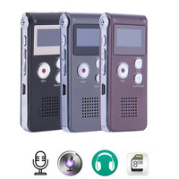 2016 Rechargeable 8GB 650Hr Digital Audio Sound Voice Recorder Dictaphone MP3 Player High Quality Mini Digital