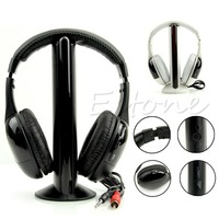Stylish 5 In 1 Hi Fi Wireless Headset Headphone Earphone For TV DVD MP3 PC