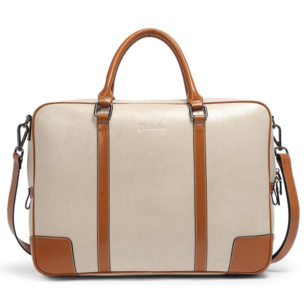 8648f9682380 BOSTANTEN Leather Briefcase Messenger Satchel Bags Laptop Handbags for  Women Women's Totes Shopping Women Handbag