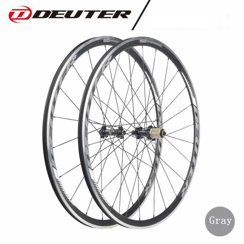 700C Road bicycle wheelset CNC rim cycling Bike wheel 4 bearings with hub compatible 11 speed racing clincher 4 colors V brake