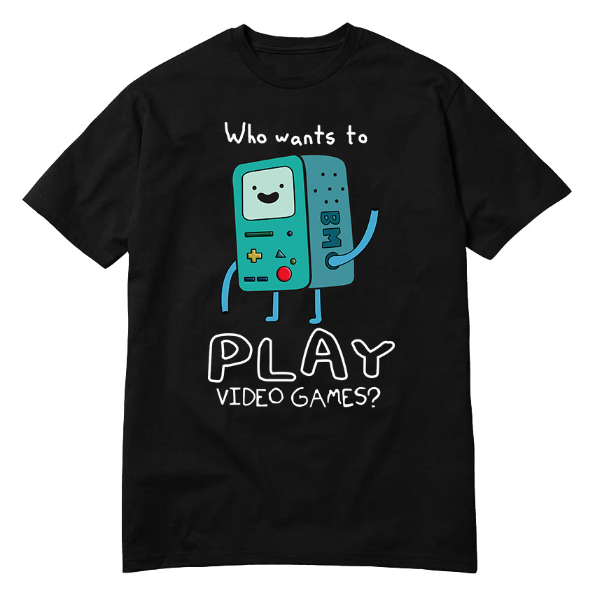 USAprint Harajuku Men T Shirt Adventure Time Play Video Games Funny t shirt cotton leisure short-sleeved euro size O neck tshirt