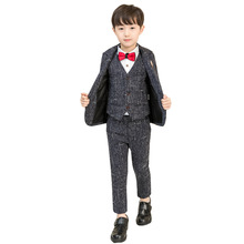 Kids Formal Costumes Baby Boy Suits for Weddings Enfant Garcon Mariage Boys Blazer Kids Black Suit Z5
