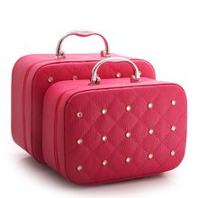 цена на Portable Simple Storage Box Large Capacity Multi-function Suitcase Fashion Travel Cosmetic Case Waterproof Lovely