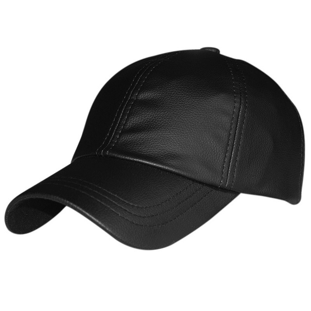High quality PU leather winter and autumn baseball cap keep warm outside Visors 2color 1pcs brand new arrive