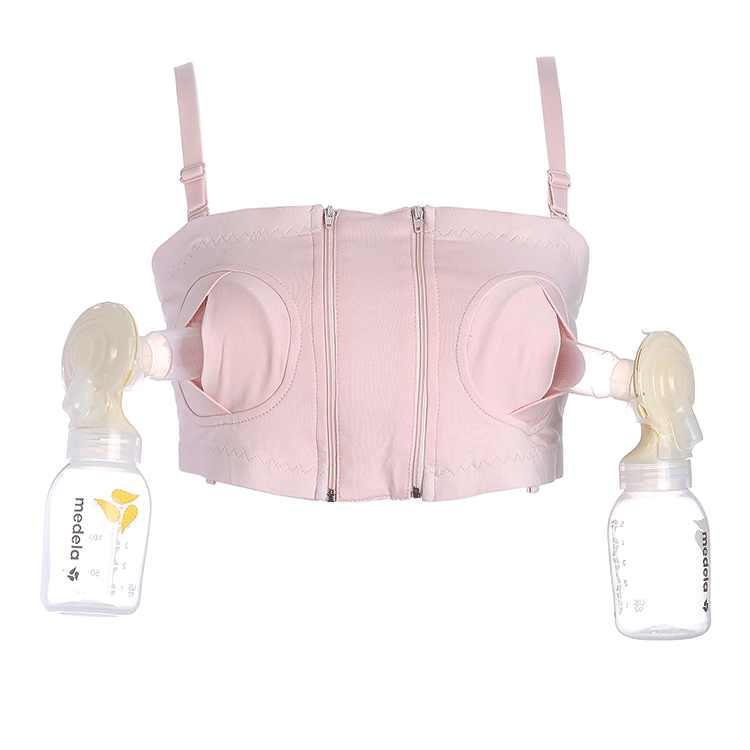 2018 جديد نساء حر اليدين الأمومة مضخة الثدي الصدرية الرضاعة الطبيعية حمالة صدر للرضاعة ضخ الحليب الصدرية القطن الرضاعة الطبيعية حمالة صدر للرضاعة