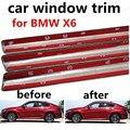 Хит продаж украшение для стекла автомобиля аксессуары без колонны для BMW X6 автомобильная накладка на подоконник из нержавеющей стали