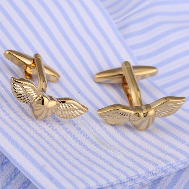 Vagula Cufflinks Copper Wedding Love Angel Wings Gemelos French Shirt Cuff Links Ship Jewelry 241