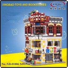 В наличии xingbao 01006 блок 5491 шт. подлинной творческой Moc Сити серии Игрушечные лошадки и книжный магазин здания Конструкторы кирпичи игрушки модель