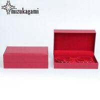 1 Stücke Hohe Qualität Rot Jubel Schmuck Box Doppel Armband Schmuck Box Hochzeit Frauen Schmuck Geschenk Box Fall