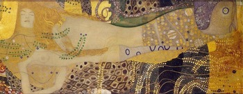 Oil Painting Reproduction on Linen Canvas, Water Serpents I,Fast  Free shipping,100% handmade, Museum Quality