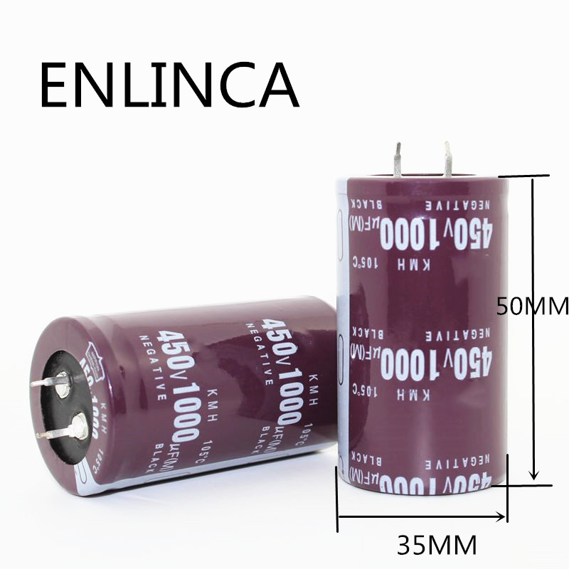 1pcs/lot 450V 1000UF 450v680UF Aluminum Electrolytic Capacitor Size 35*50mm 450v1000uf