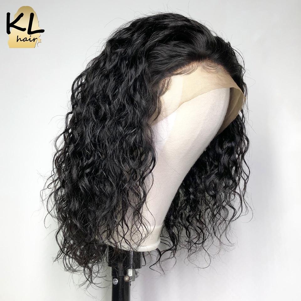 KL włosy koronki przodu włosów ludzkich peruk dla czarnych kobiety naturalne fale brazylijski Remy włosy 13*4 koronkowe peruki z dziecięcymi włosami bielone węzłów w Peruki z tiulem z przodu od Przedłużanie włosów i peruki na AliExpress - 11.11_Double 11Singles' Day 1