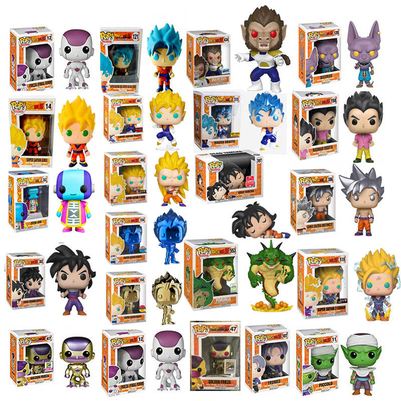 FUNKO  pop Dragon Ball Super Porunga Saiyan Goku Super Vegeta plating BEERUS Zamasu YAMCHA Vinyl Figure New With Box for kids