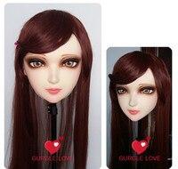 (GL005)หญิงหวานสาวเรซิ่นครึ่งหัวKigurumi BJDหน้ากากคอส