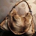 2016  New Hot  PromotionFashion Fur Bags Women Shoulder Bag Messenger Bag Woman Wholesale/reatail XMS051 Drop/Free Shipping