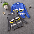 Gray/Blue Kids Girls Sweater for Children Knit Cardigan Monster Children Baby Girl Boy Sweater knit Clothes Baby knit Sweater
