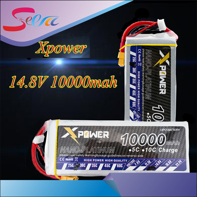 14.8V 4s Lipo battery 10000mAh 30C max 35C Xpower lithium batteries XT60 T EC5 XT90 for rc drone Helicopter Airplane part VS VOK lacywear vok 3 snn