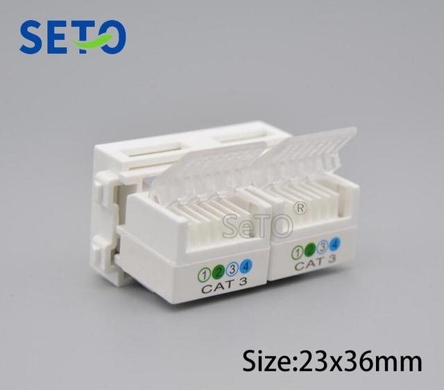seto 128 type double rj11 cat3 telephone module network keystone for rh aliexpress com