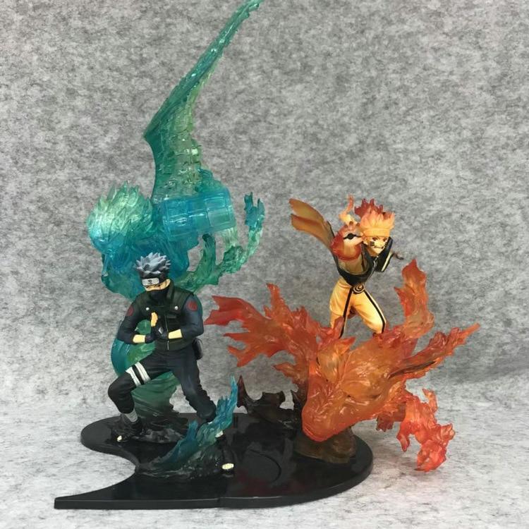 Japanese anime peripherals movie action Naruto hand props flame Hatake Kakashi Uzumaki Naruto 1:1 model Adult toy