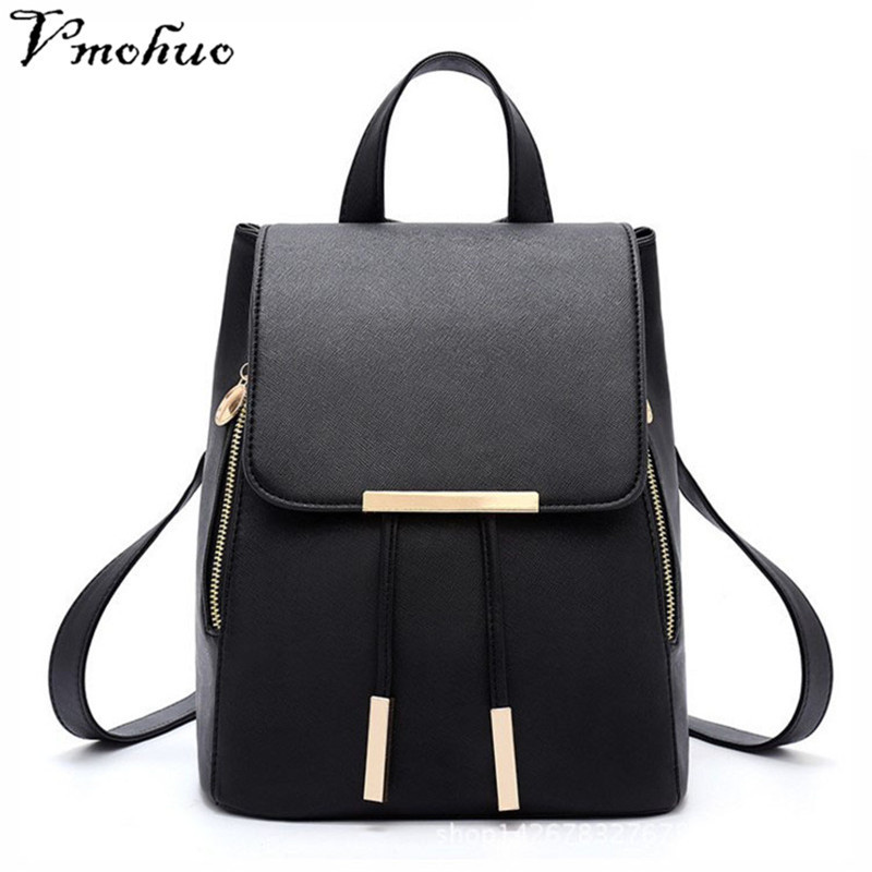 Vmohuo Korean Style Backpack Female Pu Leather Backpack Japanese Street Bag Tunic Womens School Bag For Adolescent Girl Mochila Quell Summer Thirst Backpacks Women's Bags