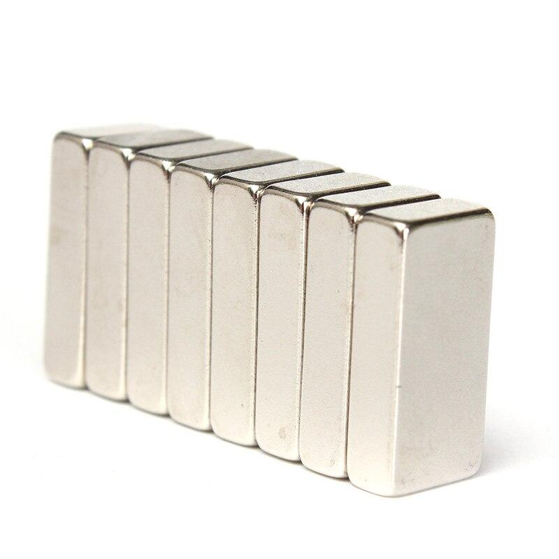 8pcs 20x10x5mm N52 Grade Block Neodymium Super Strong Cuboid Rare Earth Magnets Best Price