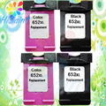 4PK For HP 652 XL Ink Cartridges For HP 652 DeskJet ink advantage 1115 2135 3635 1118 2138 3636 3638 printer Compatibility  Chip