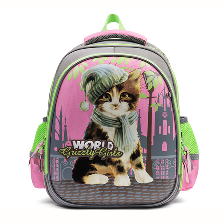 GRIZZLY rosja styl motyl dzieci torby szkolne wodoodporne ortopedyczne plecak dziewczyny kwiat koty w szkole podstawowej plecak w Torby szkolne od Bagaże i torby na  Grupa 1