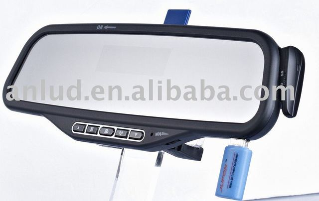 Bluetooth car mirror support Iphone4 and blackberry ALD08
