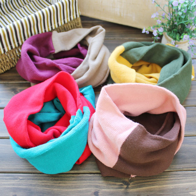 Min.order is $15 (mix order) Free Shipping Clothing baby popular two-color knitted child yarn muffler scarf winter child scarf