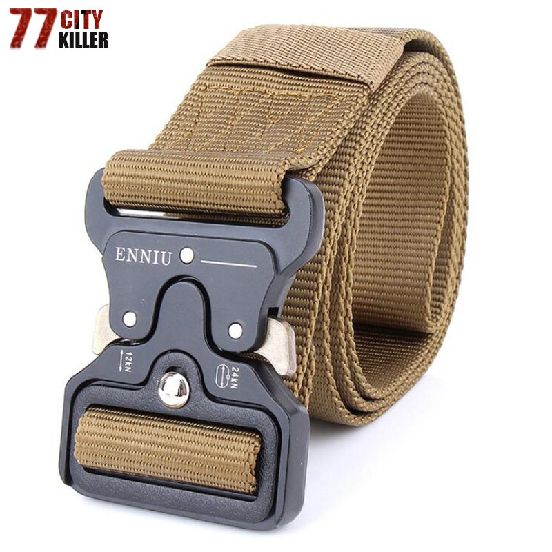 Brand Mens Military Tactical   Belt   Military Nylon   Belt   Outdoor multifunctional Training   Belt   Men Equipment Paintball Army   Belt