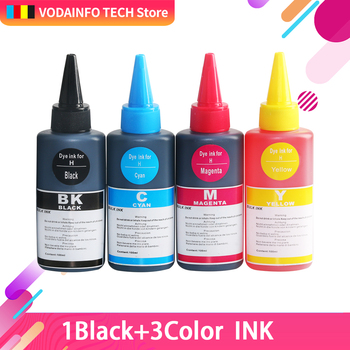 100ml*4 Dye ink refill kit for HP 903 904 905 ink cartridge ciss for HP OfficeJet 6950 6956 HP OfficeJe t Pro 6960 6970 printer hp970xl hp971xl 970 refill ink cartridge with arc chip for hp officejet pro x576dw x476dn x451dn x551dw printer for hp 970 971