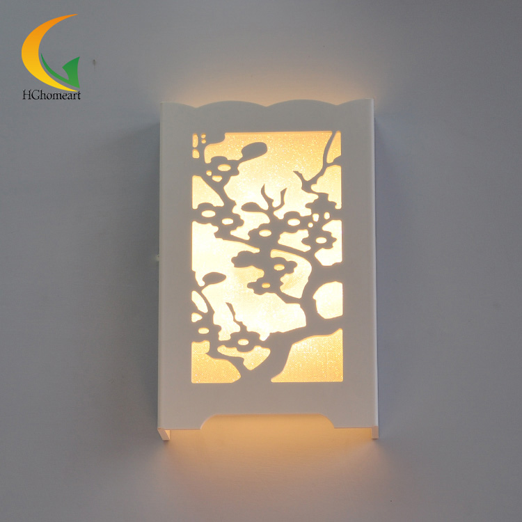 Modern wall lamp white LED Merlin, bamboo and chrysanthemum personality carved thin entrance hallway living room b mukund shiragur d p kumar and venkat rao chrysanthemum genetic divergence