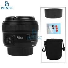 Yongnuo yn 50mm f/1.8 lente af yn50mm apertura enfoque automático de gran apertura para nikon dslr cámara como af-s 50mm 1.8g