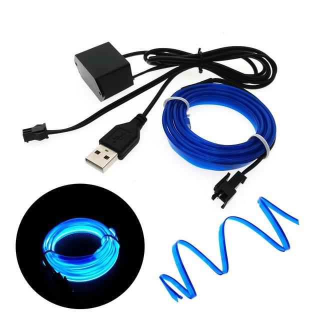 EL Wire lights 6mm Sewing Edge Neon Light Dance Party Car Decor ...