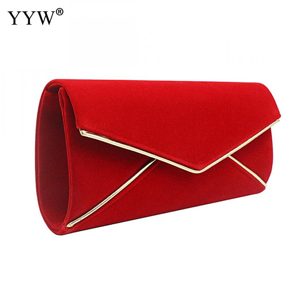 7aa9c8568646 Велюровая красная сумка-клатч 2018 дизайнерские женские вечерние сумки модные  свадебные с цепочкой вечерние Роскошные