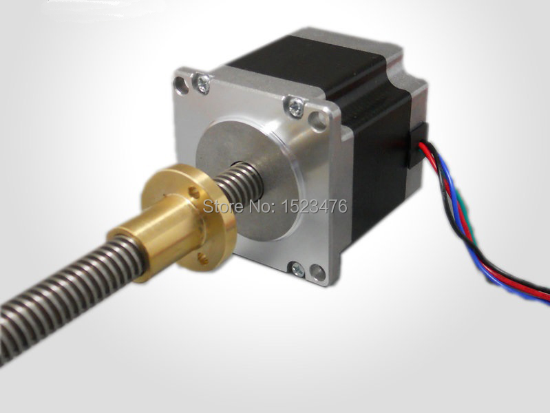 ФОТО 57mm screw rod stepper motor / rod Length 500mm linear stepper motor/screw pitch,helical Pitch Customized Design