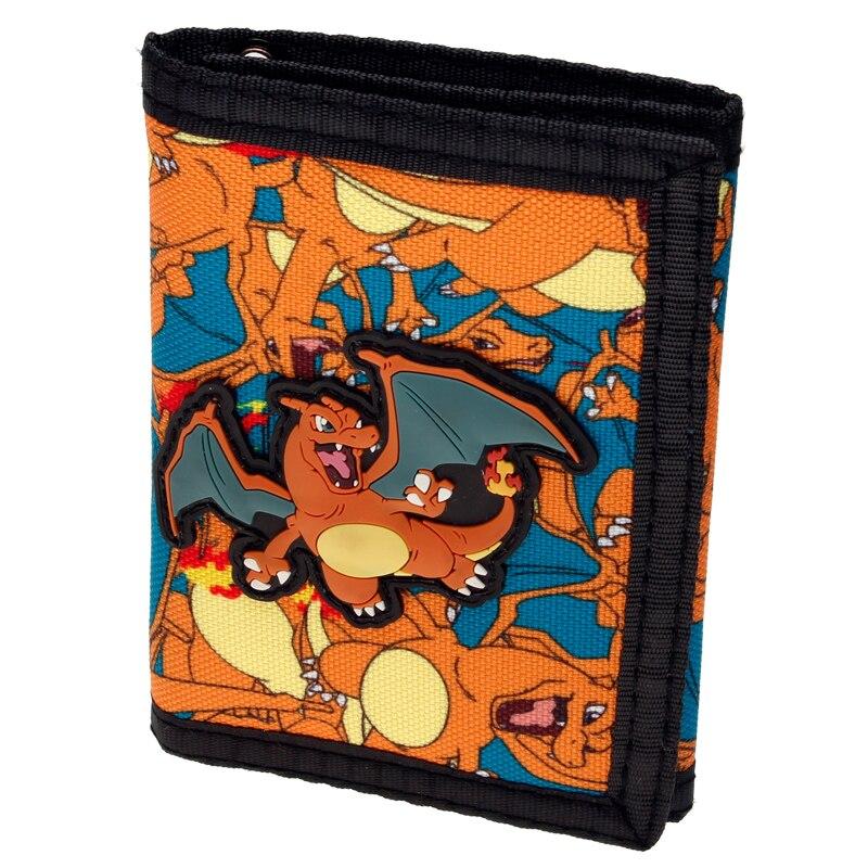 Pokemon Rubber Charizard Sublimated Canvas Wallet Women Purse DFT-2035