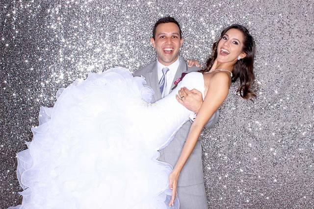 Silver Sequin Backdrop 10ftx8ft Wedding Birthday Christmas