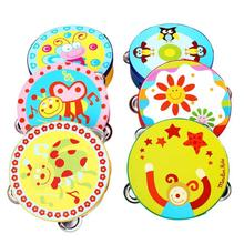 Kid Gift Jingle Percussion Hand Bell Tambourine Musical Instrument Toy Drum Toys musical Instrument #YL