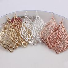 ZWPON новые серебряные филигранные серьги-капли для женщин, модные дизайнерские украшения, эффектные серьги-капли с вырезами