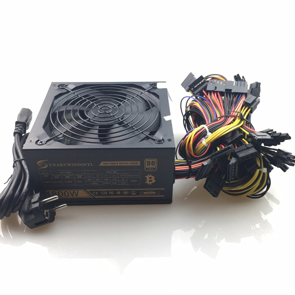 где купить 1800W ATX 24pin PSU 1800W Ethereum ETH power supply for R9 380 RX 470 RX480 6 GPU CARDS PC Power Switch Ethereum Coin Bitcoin дешево