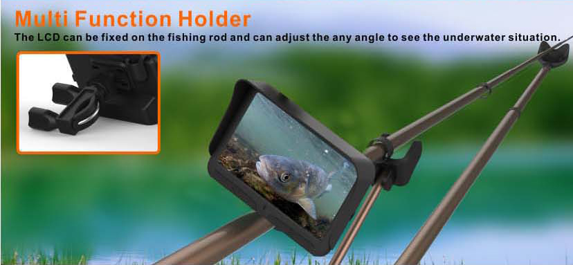 HD Underwater Video Camera System with 4.3 LCD Monitor 4000mAh Battery Built-in & 20M 2MP Fishing Camera and AHD Camera on LCD_13